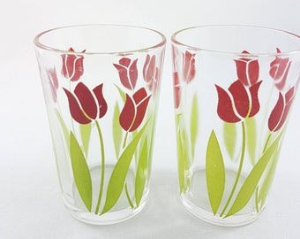 Vintage Swanky Swigs, Tulip Swanky Swigs, Little Juice Glasses, Vintage Glasses, Collector Glasses, Kitsch