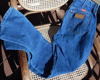 Vintage High Waisted Wranglers, 80s, Dark Wash, Mom Jeans, Made in USA