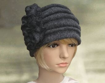 Womens felt hats, Ladies winter hats, Felted wool hats, Womens winter hats, Winter hats for lady, Women's wool hats,  Womens hats winter