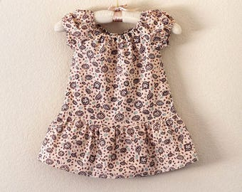Peasant Top with French Seams Size 4T 100% Cotton