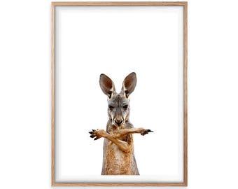 Kangaroo Print, Printable Wall Art, Animal Prints, Nursery Wall Art, Kids Room Art, Australian Wall Art, Nursery Wall Art, Woodland Animals