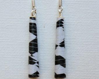 Black & White Dangle Earrings