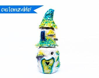 Fairy house jar, Kitchen decoration, Kitchen container set, Kitchen gift ideas, Fairytale gift, Kitchen jar set, Whimsical decor, Coffee jar
