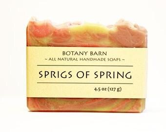 Rosemary Lavender Soap, Spring Soap, Herbal Soap, Vegan Soap, Cold Process Soap, Homemade Soap, Organic Soap, Handmade Soap, Artisan Soap