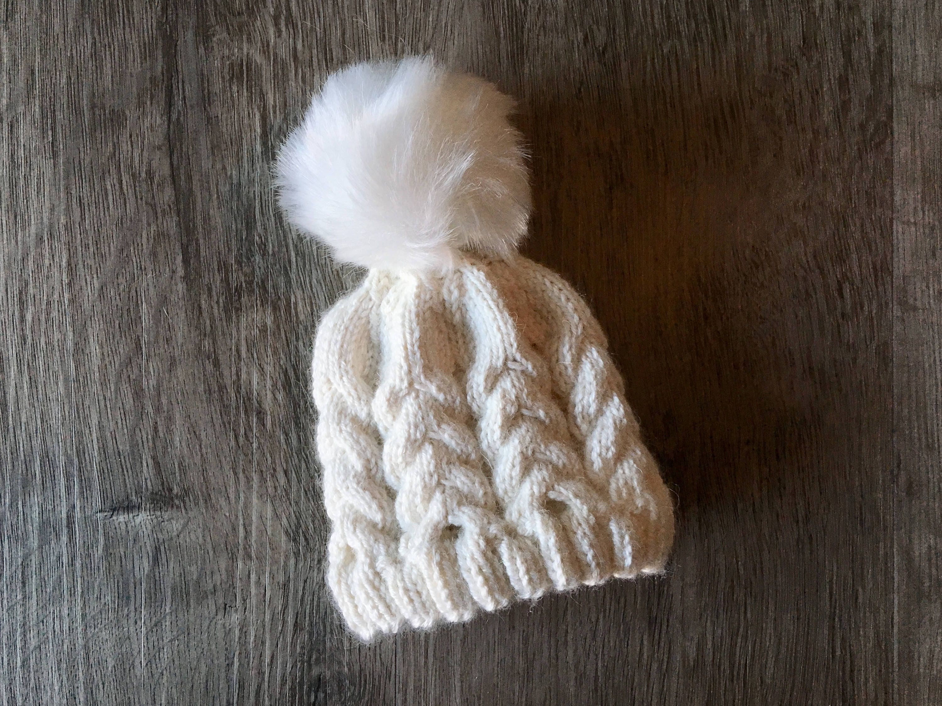 KNITTING PATTERN - Alpine Cabled Baby Hat, Preemie Hat Knitting ...