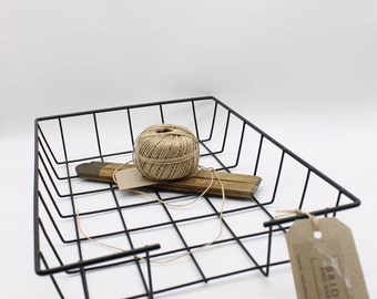 1970's Vinyl Wrapped Office Tray/Paper Basket, Black