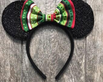 RTS! | Christmas Print Mouse Ears | Minnie Mouse Ears