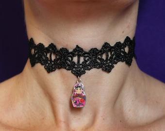 Matryoshka choker / Russian doll jewellery