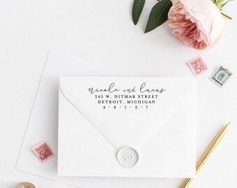 Return Address Stamp, Address Stamp, Custom Address Stamp, Wedding Return Address Stamp, Personalized Return Address Stamp, Rubber Stamp 113