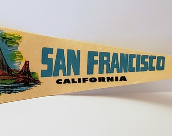 San Francisco, California - Vintage Pennant