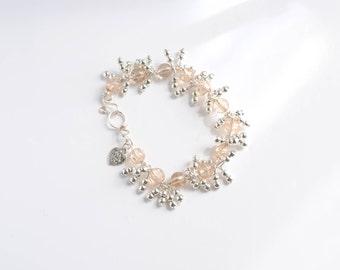 Cluster bracelet beaded bracelet chunky gift bracelet  unusual bracelet feminine bracelet  women's jewellery
