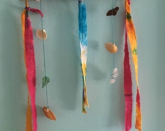 Sea Glass, Shells and Driftwood Wind Chime