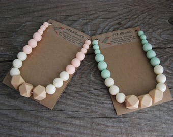 Gold Collection - Geometric Silicone Teething Necklace, Chewlery