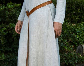 Medieval Linen Dress, Kirtle, Chemise, Women's Tunic From Natural 100% Linen. LARP, SCA Viking Period Under Dress. Customisation available.