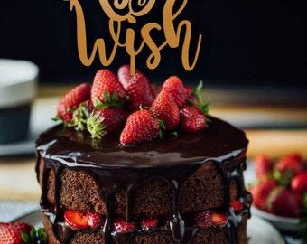 Cake Topper .As You Wish.Wedding cake  topper.