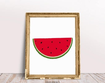Watermelon, Watermelon Art Print, art print, Summer print, Summer art print, Summer vibes, watermelon print, ideal for watermelon lovers