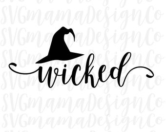 Wicked SVG Halloween Cut File for Silhouette and Cricut