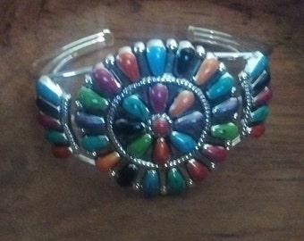 SOUTHWESTERN STYLE Silver/Colorful Bracelet-