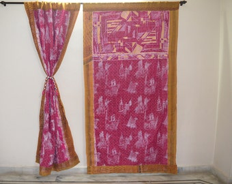GIFT Indian quilt Hippy curtain Cotton Indian curtain Boho curtain gypsy curtain partition room divider recycled vintage BohemiancurtainQC37