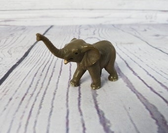 Vintage Wildlife Elephant Figure Scleich Made in China PVC Plastic