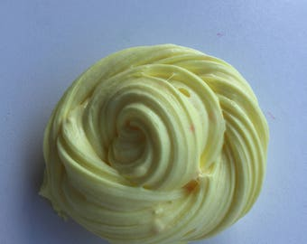LEMON FROSTING thick clay scented slime