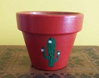 Cactus Design Miniature Plant Pot