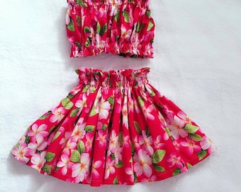 kids hawaiian hula skirt, girls hula dress outfit, toddler/baby luau outfits, girls luau outfit, 2 piece set hula skirt, kids clothes