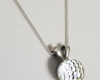 925 Silver Pendant with Vintage Swarovski® Crystal Disco Ball #2144