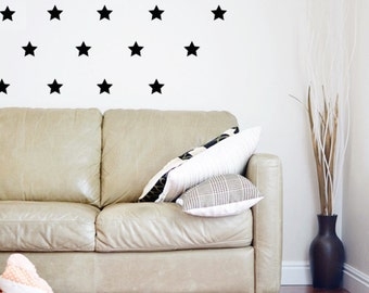 Star Wall Decals Etsy - Nursery wall decals stars