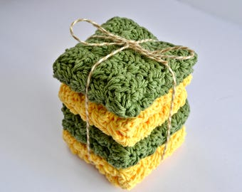 Cotton Crochet Dishcloth - Washcloth - Eco Friendly Option for Your Home