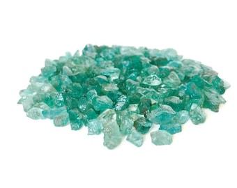 Raw Apatite Crystals Blue Green
