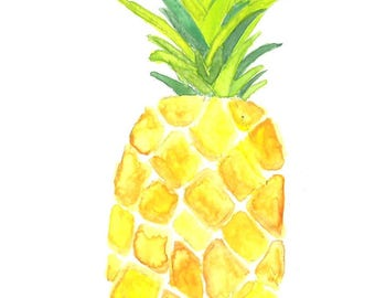 Pineapple Card Print