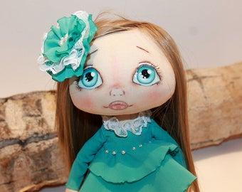 Art Rag Doll, OOAK Rag Doll, Cloth Doll, Handmade Doll, Soft Fabric Doll, OOAK Doll, Textile Doll, Ragdoll, Interior Doll, OOAK Art Doll #1