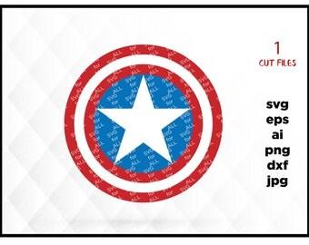 Captain America shield, Captain America Svg, Marvel Svg, America svg, Marvel Clipart, Captain america clipart, Cricut Files, silhouette file
