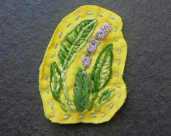 Lavender & Leaves Pin