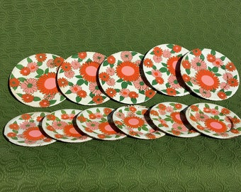 Kitsch Floral Toy Saucers