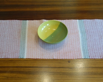 Handwoven Table Runner in linen and cotton