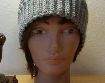 Crochet Ridged Beanie Hat
