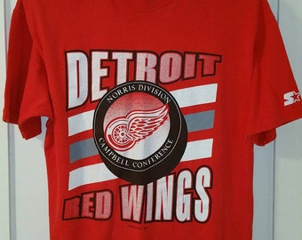 Vintage 1991 Detroit Red Wings T-shirt / Vintage Red Wings / Made in USA