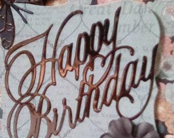 Copper Accent Birthday