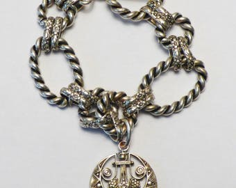 Art Deco Vintage style charm bracelet