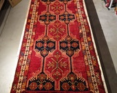 "Reserved for Anthony Wellnitz 1950's MESHKIN 3' 9"" x 10' 11"" Handmade, Hand-knotted, Natural Dyes, Made in Iran 788m"