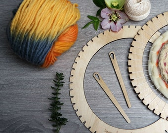 Loom and Yarn Kit - Weaving Loom - Circular Loom Kit - Lap Loom - Weaving Loom Kit - Round Weaving Loom - Craft Kit - Beginner Weaving Kit