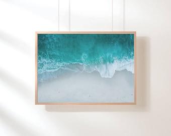 Turquoise Beach Printable, Ocean Printable Wall Art, Ocean Art Print, Blue Water Wall Decor, Beach Art, Printable Poster, Digital Art Print