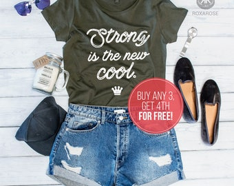Strong is the new cool shirt, Strong is the new shirt, Feminist shirt, Feminism shirt, Strong is the new cool