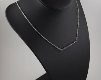 Necklace natural Amethyst, Artemis collection
