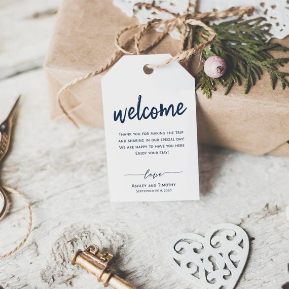 Welcome Wedding Tags Template Welcome Tags Welcome Bag Tags - Gift bag tags template