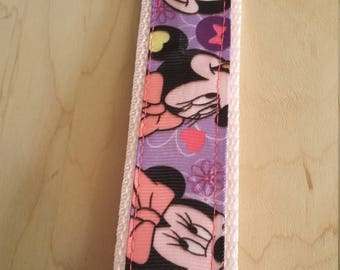 Wristlet Key Fob - Minnie Mouse