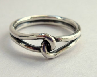 Silver Promise Rings - Oxidized Silver Ring - Sterling Silver Rings - Couples Promise Rings - Mens Promise Ring - Friendship Ring - 14 gauge
