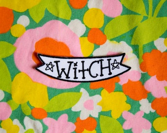 Witch Iron-on Embroidered Patch